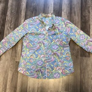 IZOD paisley button down